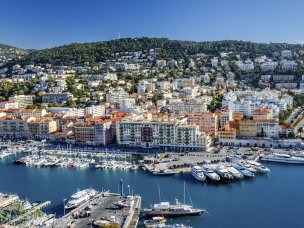 Hotel accommodation in nearby Nice