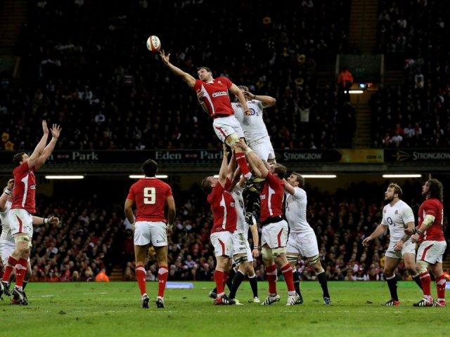 Wales v England rugby match