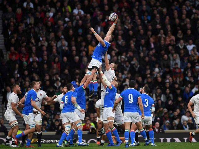 Italy v England Six Nations Rugby