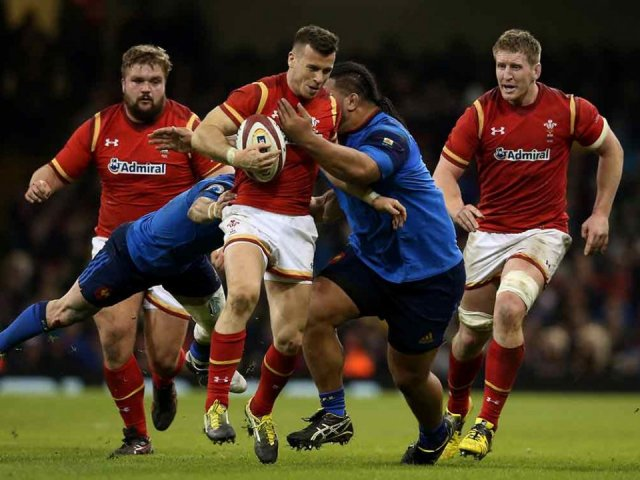 Wales v France rugby match