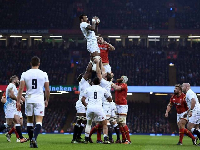 England v Wales Rugby game
