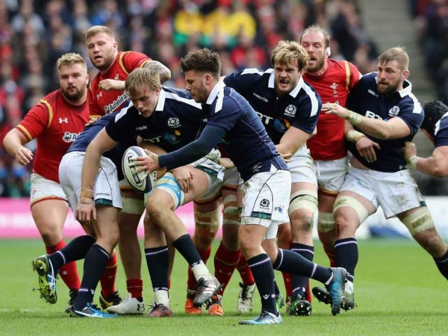 Scotland v Wales rugby match