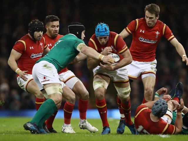 Wales v Ireland rugby game
