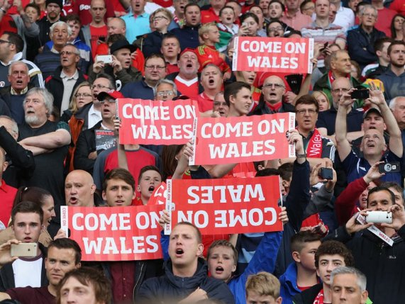 Welsh Football crowd